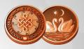 Медная монета талисман любви