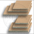 The corrugated cardboard is three-layered