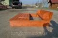 Песочница деревянная с крышкой скамейкой