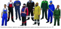 Overalls and uniform protective, corporate, uniform, professional - production under the order. WHOLESALE.