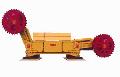 Комбайн очистной КШ1КГУ для выемки угля в очистных забоях, подвигающихся по простиранию пластов мощностью 1,4-2,92 м, с углом падения до 35°, а также по восстанию и падению до 10°, при сопротивляемости угля резанию до 300 кН/м.