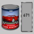 Алкидная автомобильная краска Mixon Synthetic, Светло серая 671, 1 л