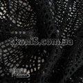 Ткань Ажурная сетка ( черный ) 1649