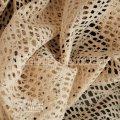 Ткань Ажурная сетка ( бежевый ) 1652