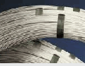 The thermoelectrode wire is used for production of thermoconverting elements which take temperature in furnaces
