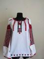 Женская рубашка, артикул C-3, домотканое полотно. Одежда