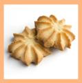 Постное печенье Снежинка, Ромашка