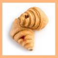 Круассаны: нежное тесто (топл. молоко)