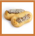 Песочное печенье с начинкой Маскарад, вареное сгущенное молоко, присыпано кокосом