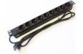 Силовой блок Pleolan 19'' 1U 9xShuko 16А, шнур питания 1.8м Shuko, индикатор , цвет черный