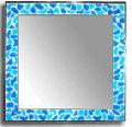 Зеркало с окантовкой из витражей