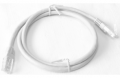 Патч-корд Pleolan UTP RJ45 (8P8C) cat. 6, 1м, PVC (ПВХ), серый
