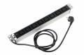 Блок розеток Rem-16 с инд., 8 IEC 60320 C19, 16A, алюм., 19