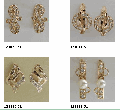 Earrings gold (Au), gold 585 ° tests with precious, semiprecious and synthetic inserts