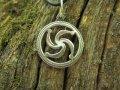 Символ Рода славянский оберег кулон из серебра 925 пробы