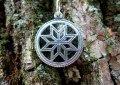 Алатырь Крест Сварога славянский оберег кулон из серебра 925 пробы