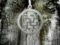 Рыжик славянский оберег кулон из серебра 925 пробы