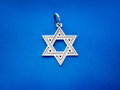 Звезда Давида кулон амулет из серебра 925 пробы