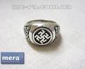 Одолень Трава славянский оберег перстень из серебра 925 пробы
