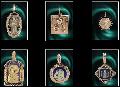Ладанки золото 585° и 375° пробы, серебро 925 ° пробы, вставки - драгоценные камни и камни SWAROVSKI