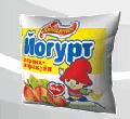 """Йогурт персик-маракуйя нежирный, вес 500 гр в полиэтиленовой пленке, ТМ """"Любимчик"""""""