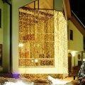 Гирлянда дождь (1 х 6 метра).Световое оформление фасадов.