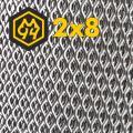 Expanded mesh 2.0x8.0x1.0x0.5 galvanized