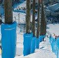 Защитные маты для горнолыжных спусков. Безопасность для слалома.