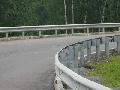 Металлическое дорожное ограждение (отбойный брус)