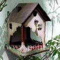 Nesting boxes, birds feeders