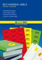 Этикетки самоклеящиеся цветные 24шт. на листе ВМ.2841