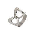 Ring, Au 585 white gold ° tests with inserts from precious and semiprecious stones