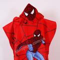 Полотенце-пончо детское 048 Ikizler Человек Паук красное