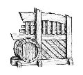 Перегородка с бочкой Виктория деревянная
