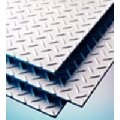 Steel sheets with a rhombic corrugation