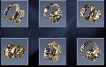 Кольца обручальные, желтое и белое золото Au 585° пробы класса ЛЮКС