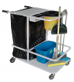 The cart for cleaning of rooms of TUP