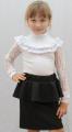 Школьная юбка с баской 00628