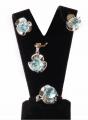 Серебряные кольцо, серьги, подвеска, вставки голубой топаз. ДЕЙСТВУЮТ УСЛОВИЯ АКЦИИ!