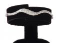 Браслет серебряный жесткий,вставки кубический цирконий, 16 размер , артикул 30324. ДЕЙСТВУЮТ УСЛОВИЯ АКЦИИ!