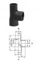 PRO-FIT Тройники 90° равнопроходные, PVC-U метрические