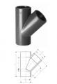 Тройники 45°, PVC-U  метрические