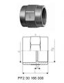 Переходные муфты, PVC-Uметрические -Rp