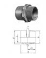 Переходники раструб-ниппель, PVC-Uметрические -R