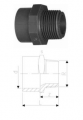 Переходные втулки, равнопроходные, PVC-Uметрические -R