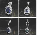 Подвески с бриллиантами и натуральными вставками