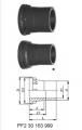 Втулки муфт без резьбы с патрубками, PVC-Uметрические