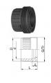 Втулки муфт с резьбой, PVC-Uметрические