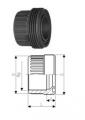 Втулки муфт с резьбой, PVC-U