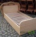 Плетеная кровать из натуральной лози